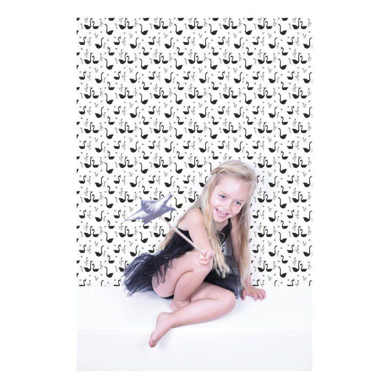 Swans Black Behang Little Princess Lilipinso Meisjes Prinsessen Lili-H0337