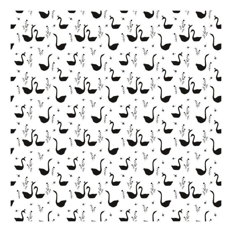 Swans Black Behang Little Princess Lilipinso Zwarte Zwanen Lili-H0337