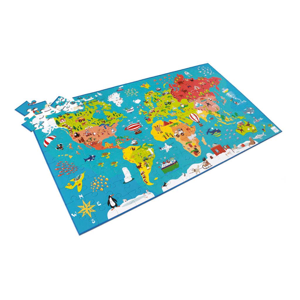 Wereldkaart Puzzel 150 Stuks Scratch Langwerpig Scra-6181076