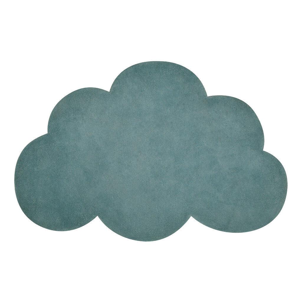 Wolk Jungle Vloerkleed Lilipinso Blauw Groen Babykamer Kinderkamer Lili-H0516