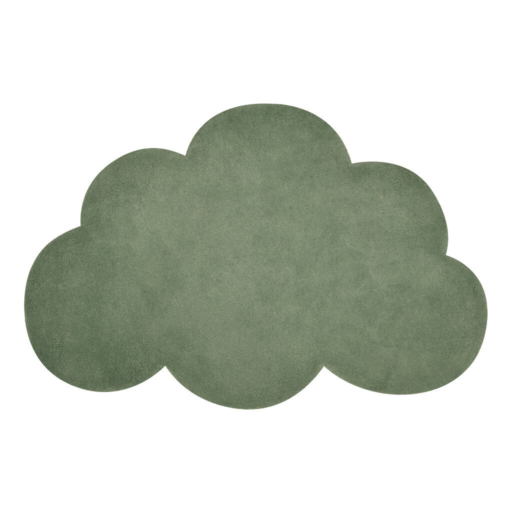 Wolk Kale Green Vloerkleed Lilipinso Mos Groen Babykamer Kinderkamer Lili-H0514