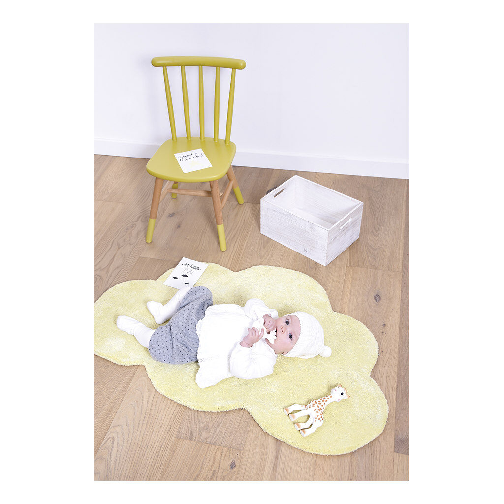Wolk Tender Yellow Vloerkleed Nuages Babykamer Lilipinso Lili-H0354
