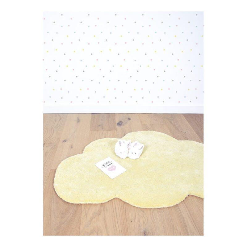 Wolk Tender Yellow Vloerkleed Nuages Zacht Lilipinso Lili-H0354