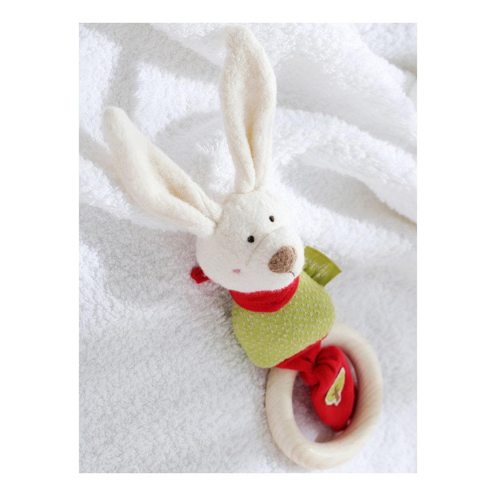 Houten Ring Grijp Speelgoed Konijn Biologisch | Sigikid