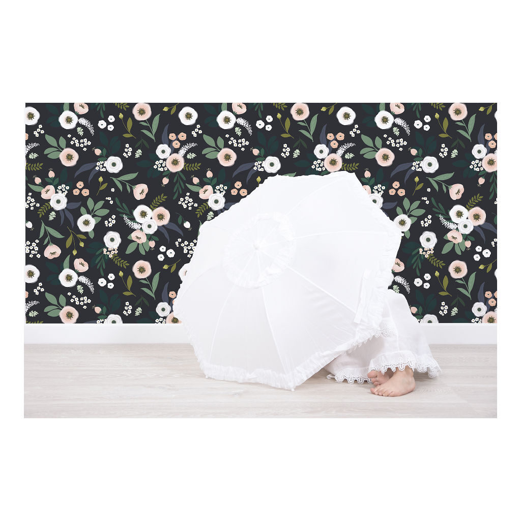 Bloesem Donker Behang | Wonderland | Lilipinso