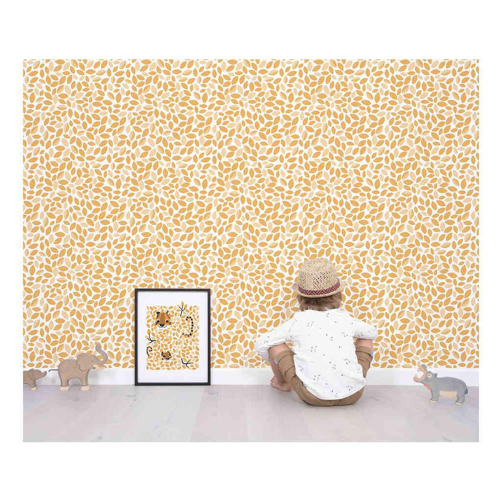 Boomblaadjes Groen Behang | Hide & Seek | Lilipinso