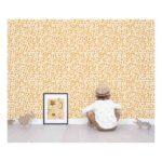 Boomblaadjes Oranje Behang Hide Seek Kinderkamer 1 Lilipinso lili-h0524-br