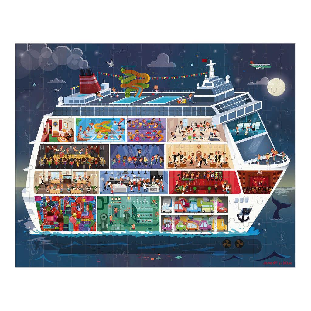 Cruiseschip Puzzel Met Koffer | Janod