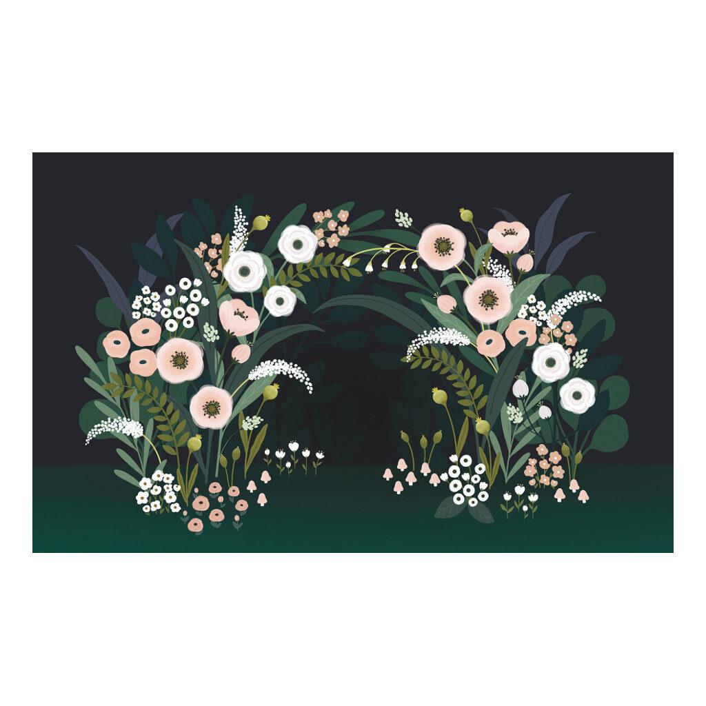 Grote Bloesemboog Behang   Wonderland   Lilipinso