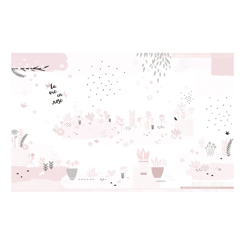 Roze Monochrome Tuin Behang | Papercuts La Vie En Rose | Lilipinso