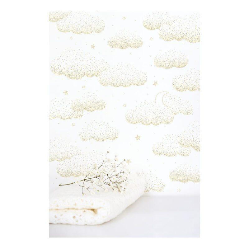 Wolken Goud Behang | Stardust | Lilipinso