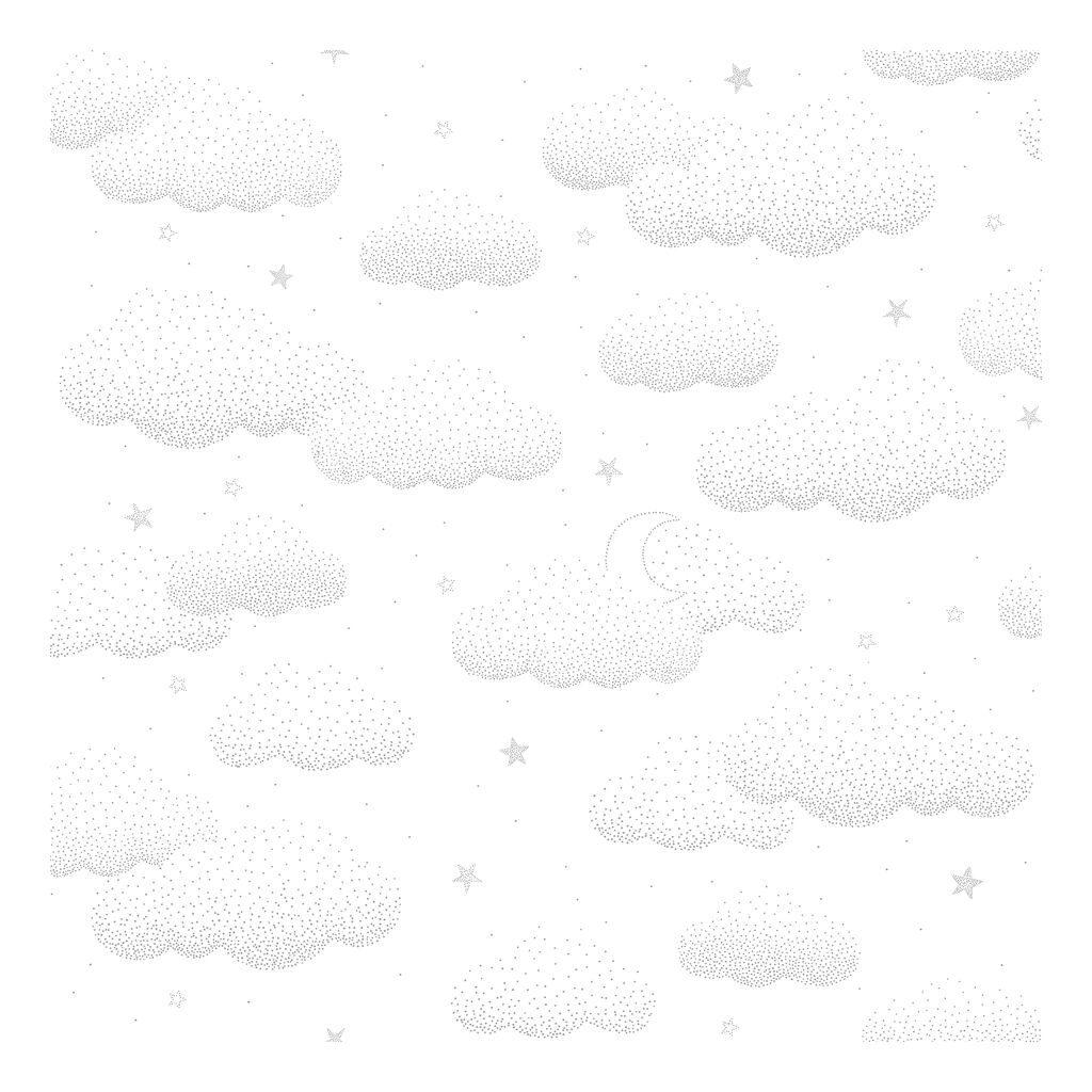 Wolken Grijs Behang | Stardust | Lilipinso