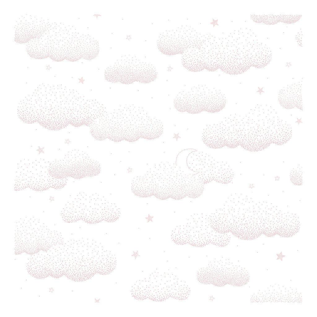 Wolken Roze Behang | Stardust | Lilipinso
