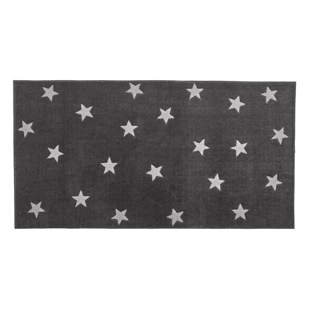 Grey & Stars 3D Effect Vloerkleed life-8450-1