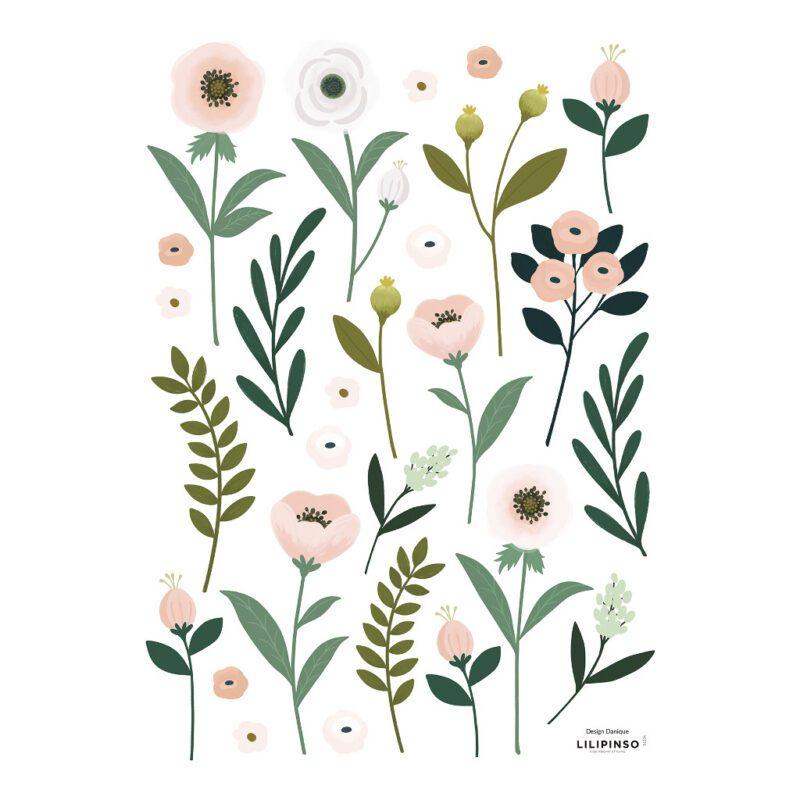 Muursticker A3 Bloemen En Blaadjes Wonderland Lilipinso lili-s1324