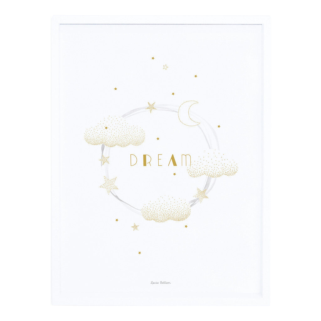 Sweet Dreams Gold Poster | Stardust | Lilipinso