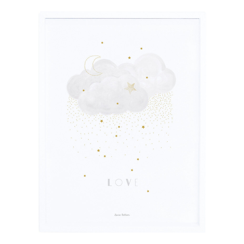 Sweet Love Grey Poster | Stardust | Lilipinso