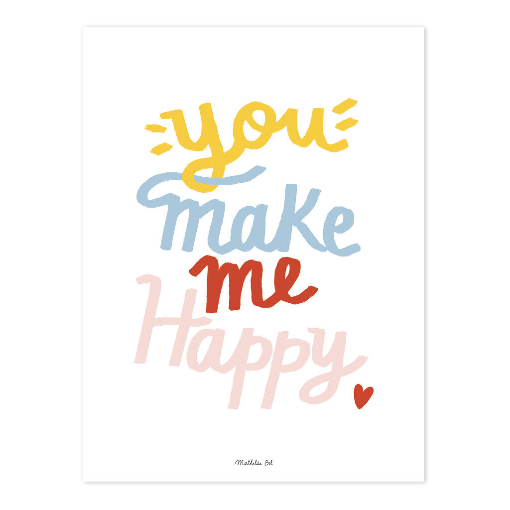 You Make Me Happy Set Van 5 Poster | Brooklyn | Lilipinso