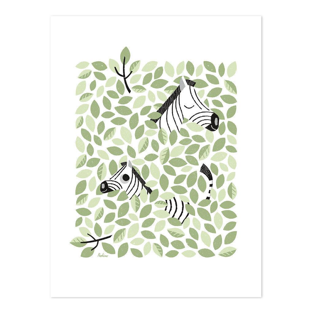 Zebra Verstopt In De Kruin Poster | Hide & Seek | Lilipinso
