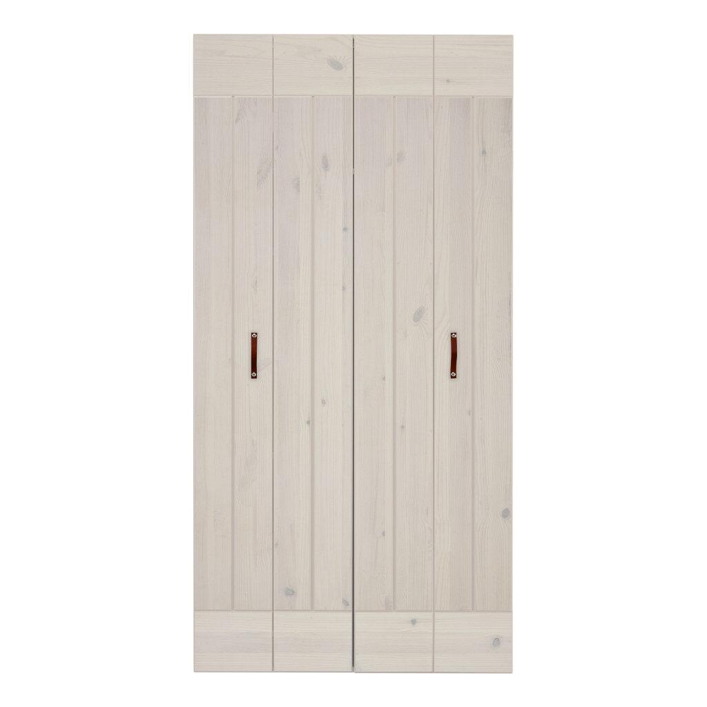 2X Vouwdeur Voor 100 Cm Kast Whitewash Lifetime Kidsroom life-9906-01w