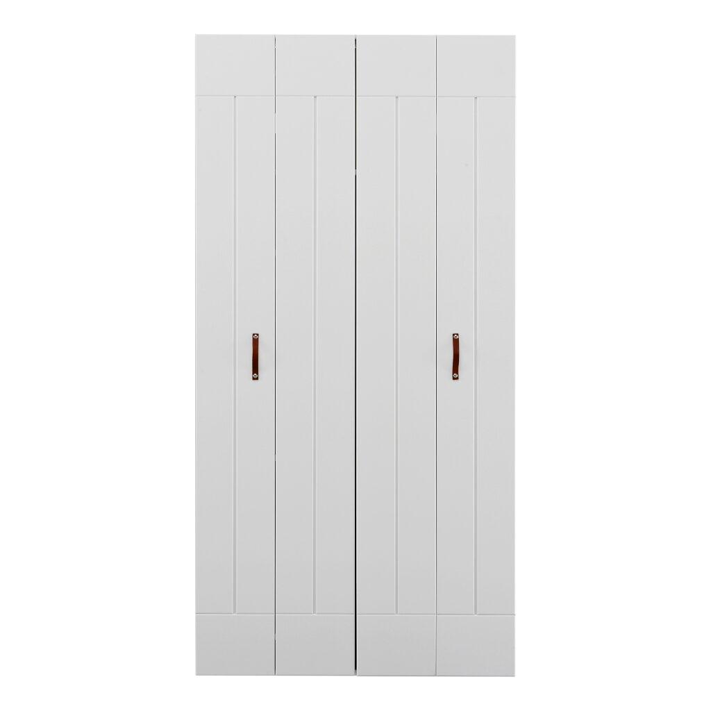 2X Vouwdeur Voor 100 Cm Kast Wit Lifetime Kidsroom life-9906-10
