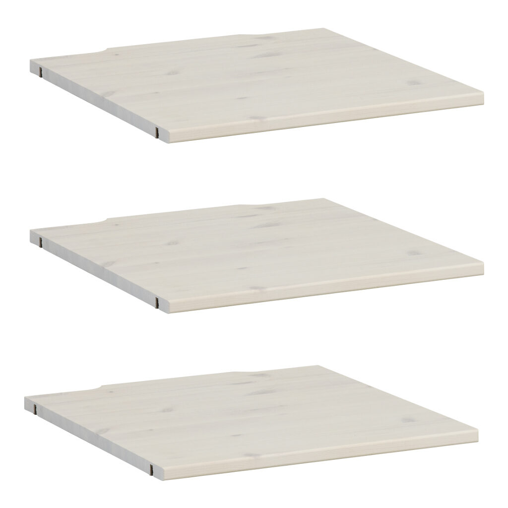 3X Legplank Onderdeel Kledingkast 50 Cm Whitewash Lifetime Kidsroom life-9531-01w