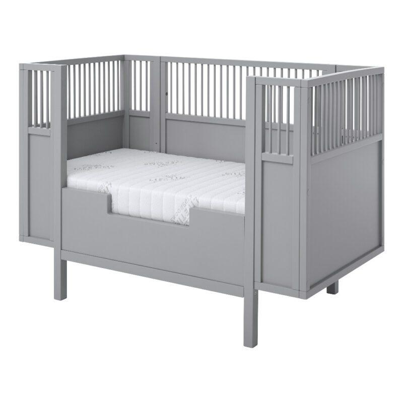 Babyledikant Grijs 60X120 Met Rand Lifetime Kidsrooms life-7022 life-7023