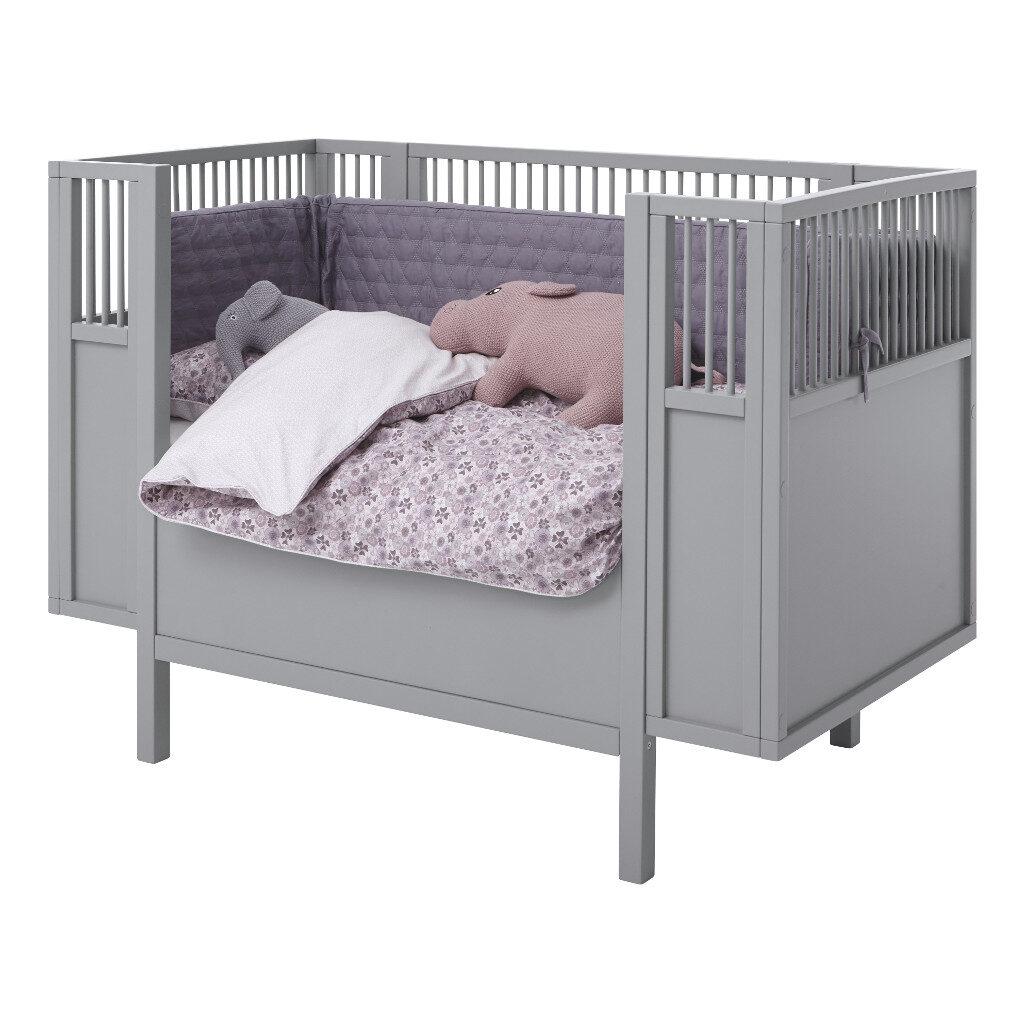 Babyledikant Grijs 60X120 Met Rand Met Accessoires Lifetime Kidsrooms life-7022 life-7023