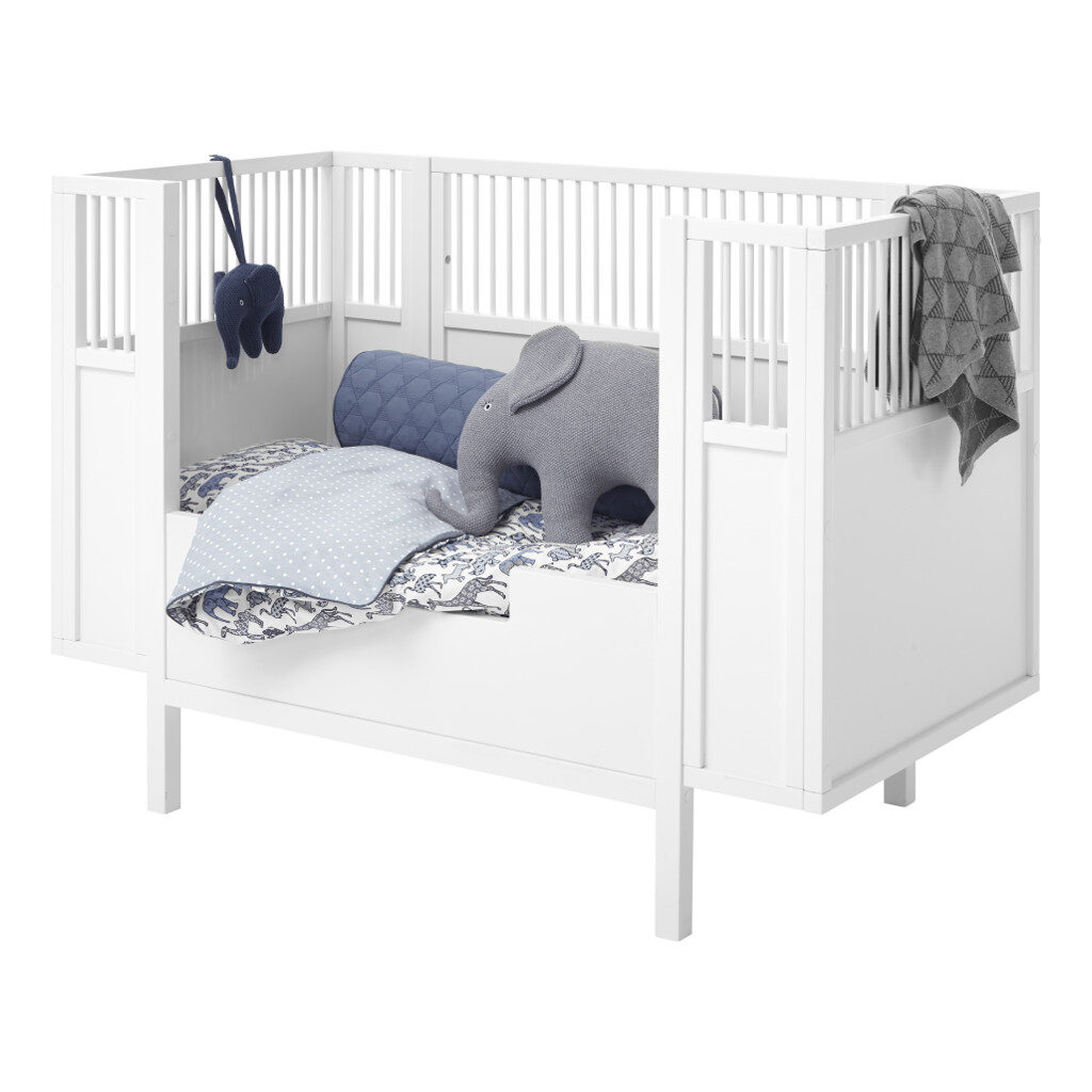 Babyledikant Wit 60X120 Met Rand Met Accessoires Lifetime Kidsrooms life-7020 life-7021