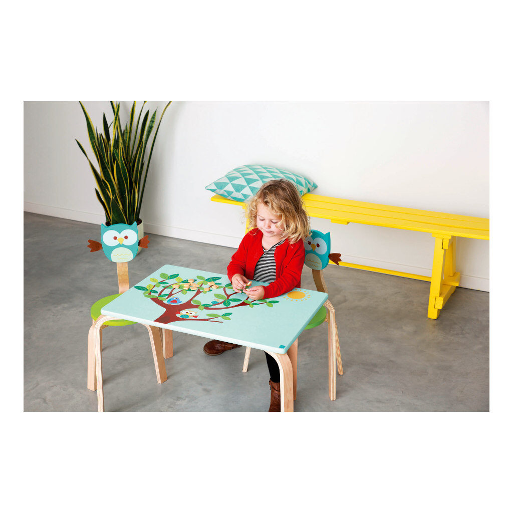 Houten Kindertafel Uil Scratch Speel Knutsel Tafel Scra-6182323