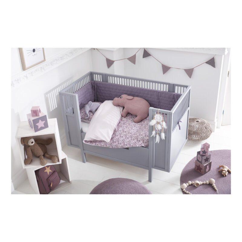 Kinderkamer Inrichting Babyledikant Grijs 60X120 Lifetime Kidsrooms life-7022
