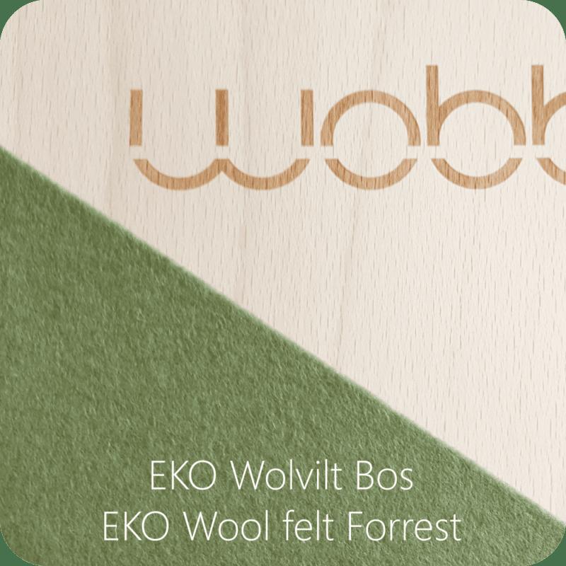 Wobbel Original Blank Gelakt Vilt Bos Groen Wobb-Blnknw-63
