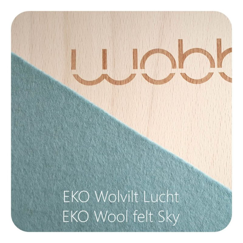 Wobbel Original Blank Gelakt Vilt Lucht Sky Wip Zitten Staan Wobb-Blnknw-57