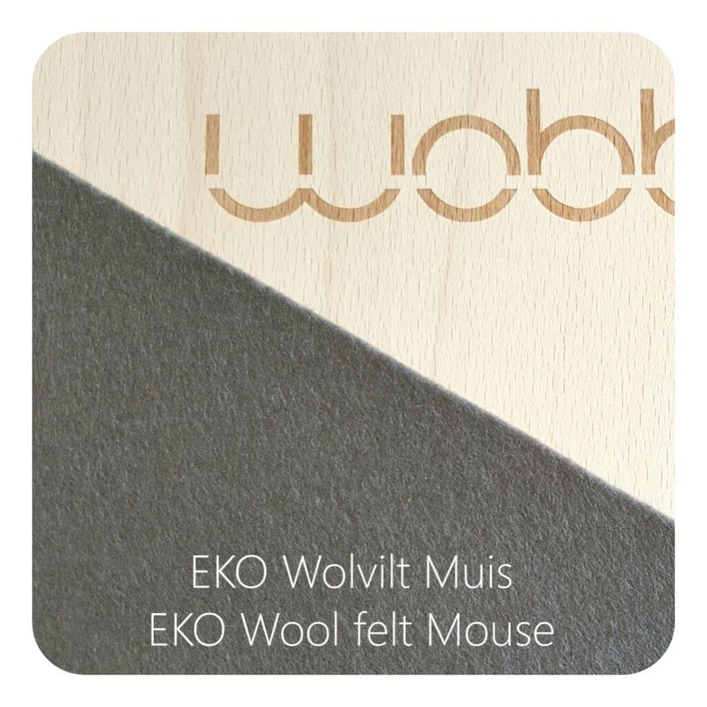 Wobbel Original Blank Gelakt Vilt Muis Wobbel Mouse Antislip Wobble Wobb-Blnknw-39A
