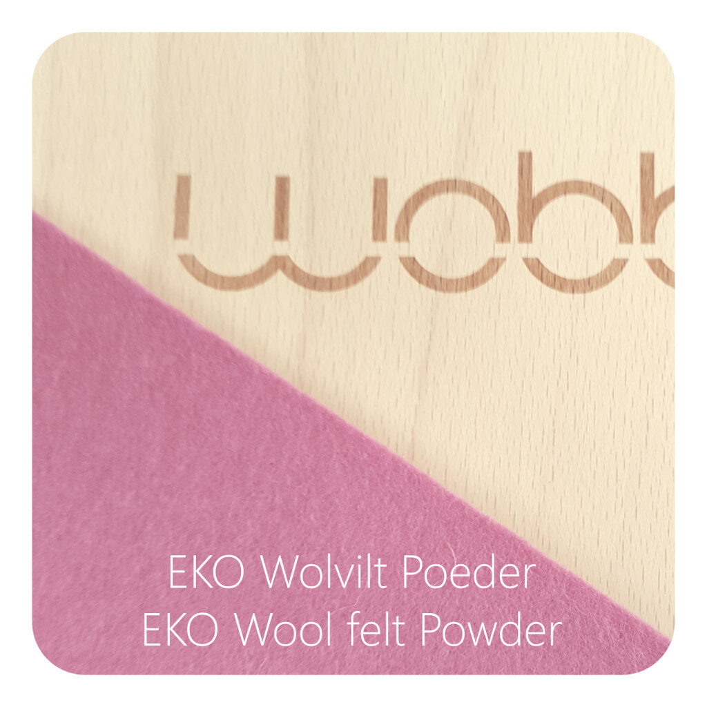 Wobbel Original Blank Gelakt Vilt Poeder Roze Wobble Pink Wobb-Blnknw-64