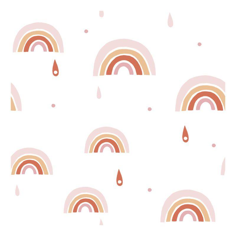 roze oranje regenboog behang paradisio lilipinso lili-h0568