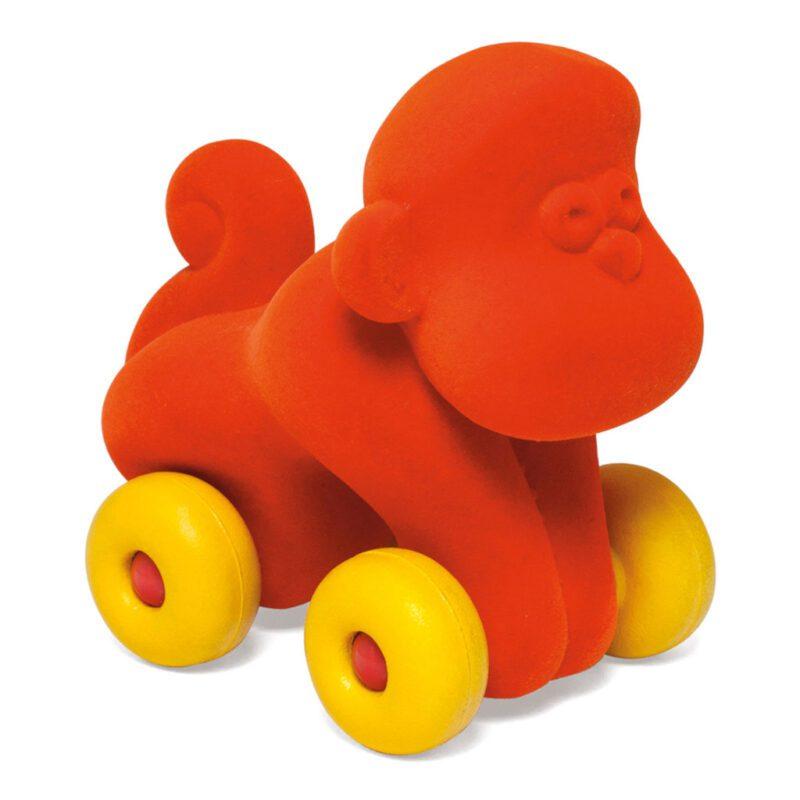 Dieren Op Wielen Groot Rubbabu Aap Oranje rubb-33.20464