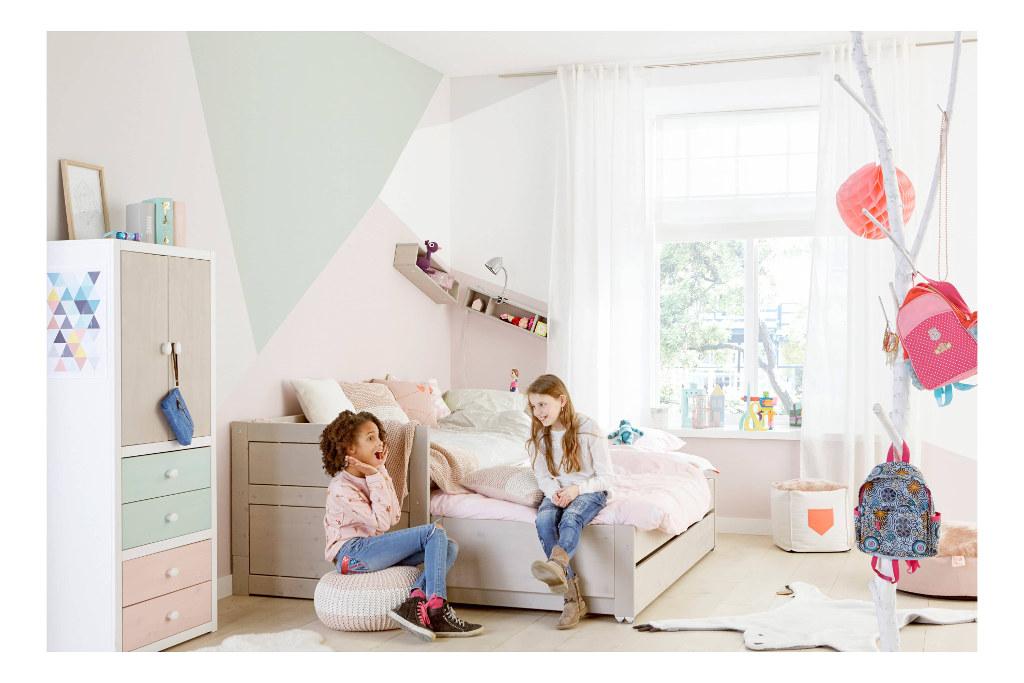 Kajuitbed Wit Met Logeerbed En Bedlade Lifetime Kidsrooms Peuter Kleuter Bed Qiddie.com life-47109-10
