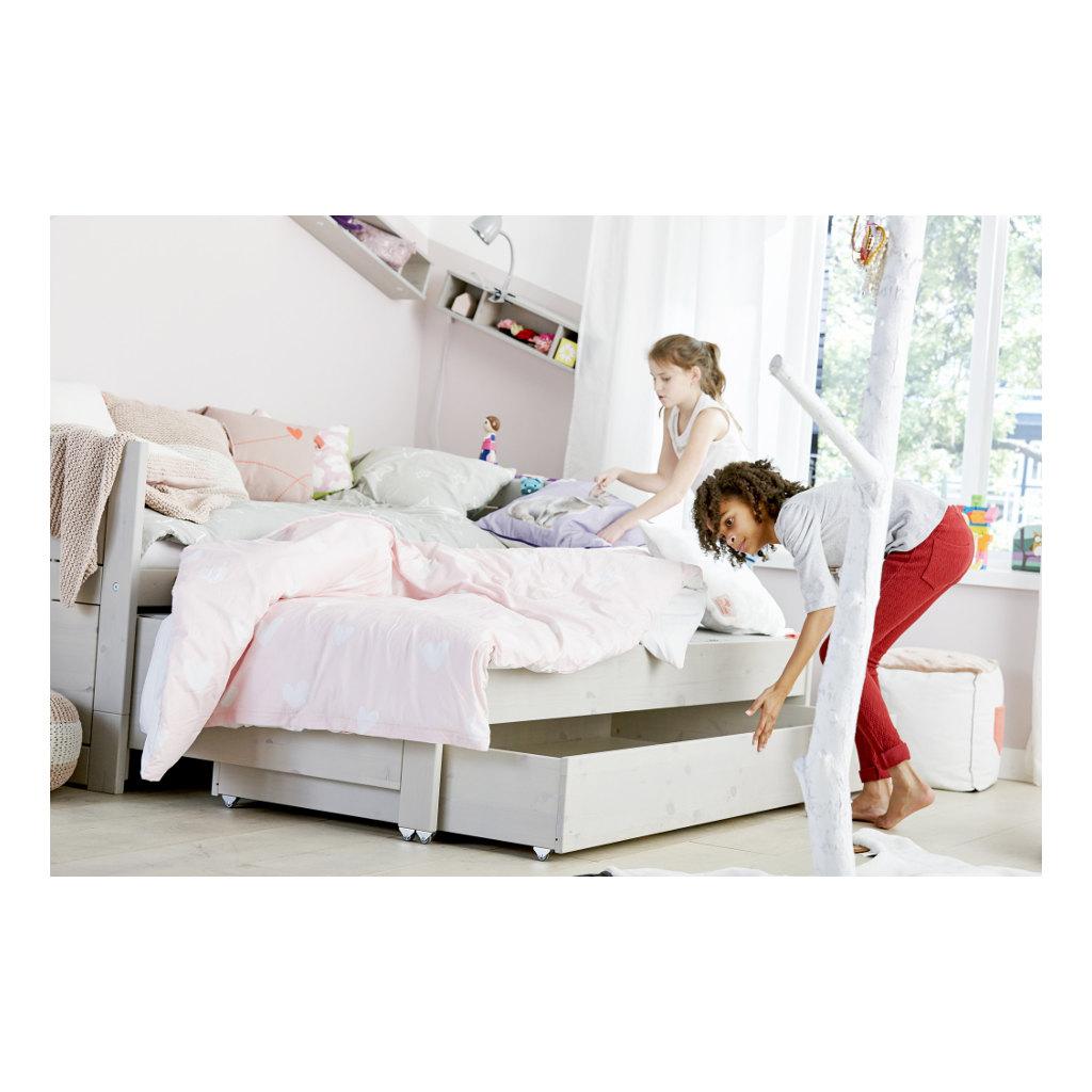 Kajuitbed Wit Met Logeerbed En Bedlade Lifetime Kidsrooms Slaap Logeer bed Qiddie.com life-47109-10