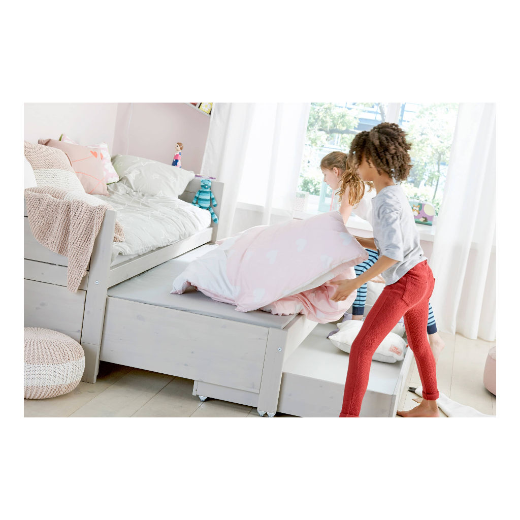 Kajuitbed Wit Met Logeerbed En Bedlade Lifetime Kidsrooms Standaard Bed Maat 90 x 200 cm Matras Qiddie.com life-47109-10