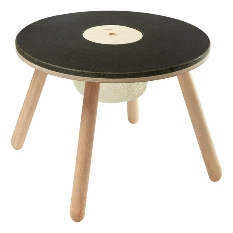 Ronde Kindertafel Plan Toys Rubber Wood Krijt Tafel Peuter Kleuter Qiddie plan-8605 1024x1024