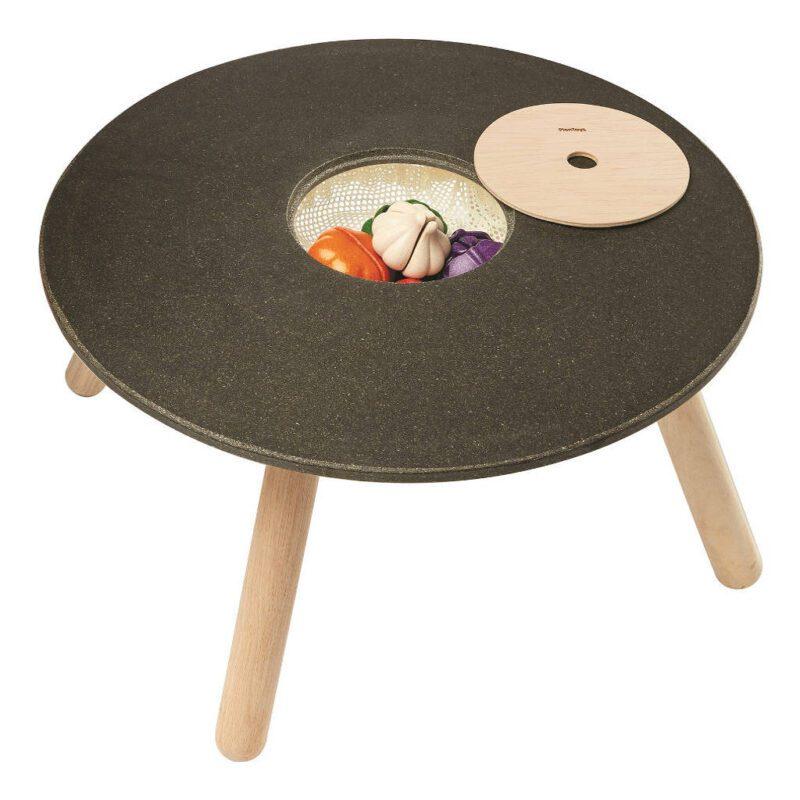 Ronde Kindertafel Plan Toys Speciaal Hout Speel Teken Bouw Knutsel Tafel Qiddie plan-8605 1024x1024