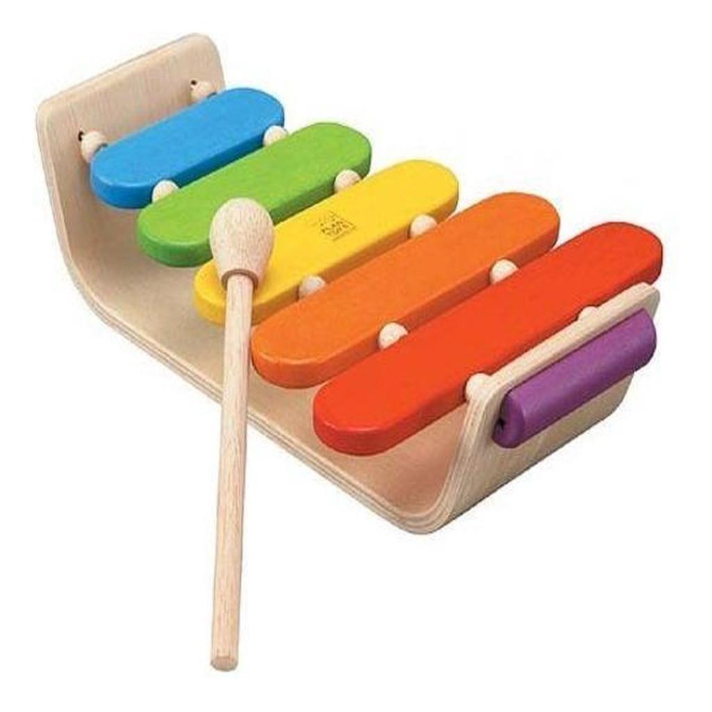 Ovale Xylofoon Plan Toys Baby Muziek Instrument Kleurrijk Qiddie.com plan-4006405