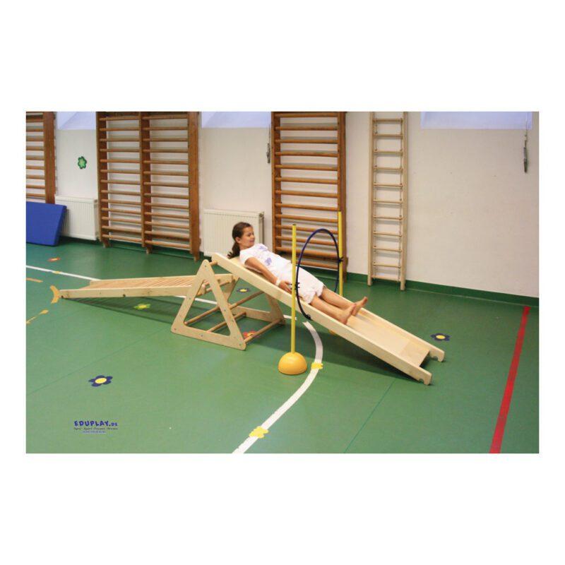 Klimrek Hout Driehoek Bok Samen Alleen Durven Oefenen Evenwicht Glijden Klimmen Hoog Laag Qiddie.com edup-170339