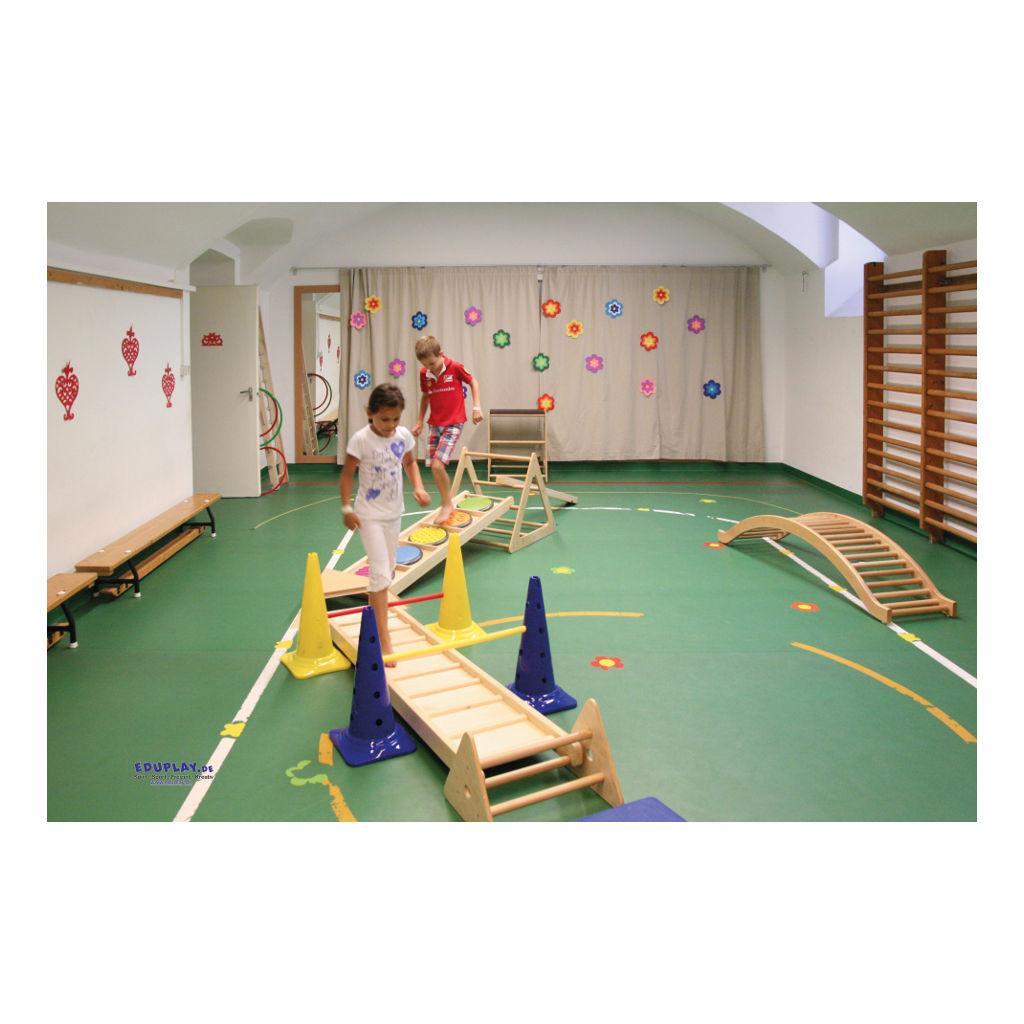 Klimrek Hout Gebogen Brug Bewegen Oefenen Lichamelijke beweging QIDDIE.com edup-170349