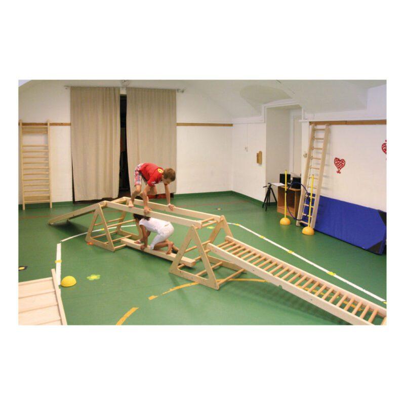 Klimrek Hout Gebogen Brug Combineren Evenwicht Balans QIDDIE.com edup-170349