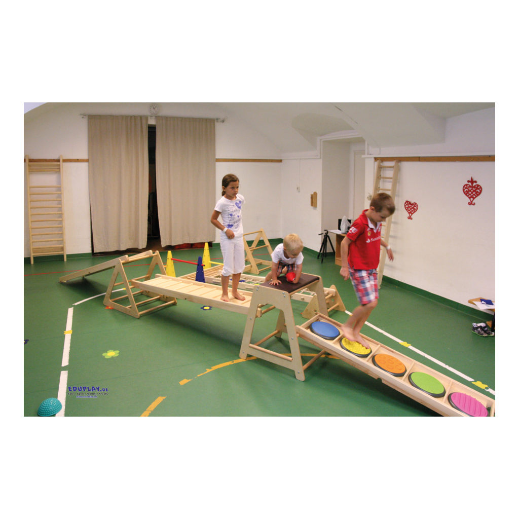 Klimrek Hout Gym Ladder Lopen Staan Omhoog Omlaag QIDDIE.com edup-170343