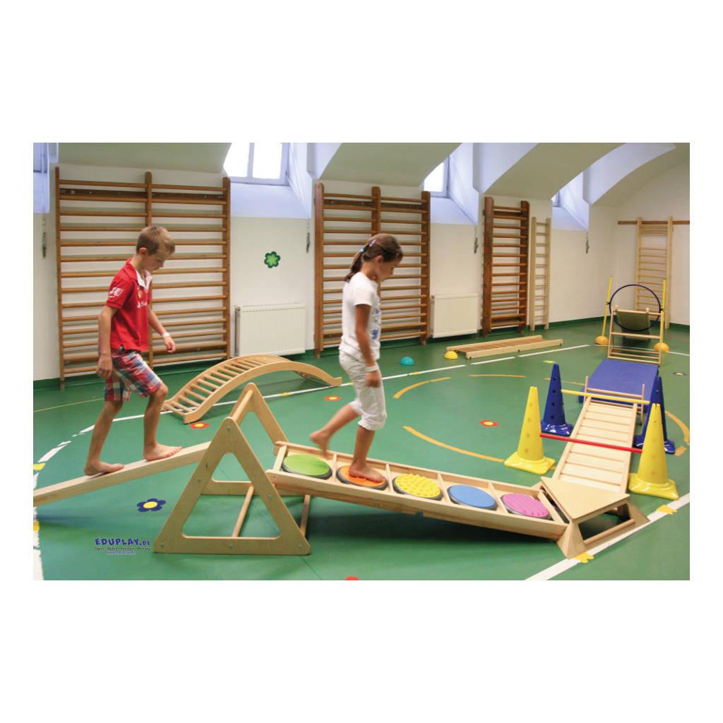 Klimrek Hout Loop Plank Durven Gymzaal Balans Kracht QIDDIE.com edup-170345