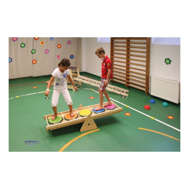 Klimrek Hout Tactiele Loop Plank Onderdeel Samen Spelen Balans Evenwicht QIDDIE.com edup-170346