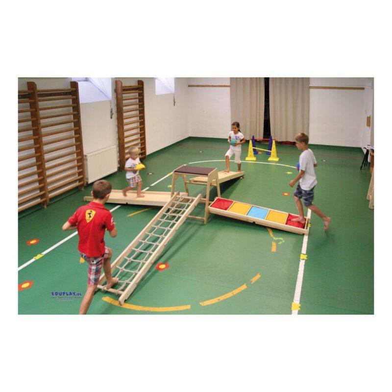 Klimrek Hout Tactiele Loop Plank Peuter Kleuter Trap Omhoog Omlaag QIDDIE.com edup-170346